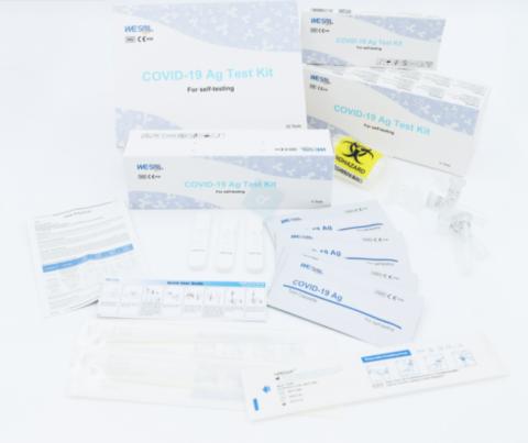 SARS Cov-2 Antigeeni kiirtest WESAIL , ninast, 20 tk kastis