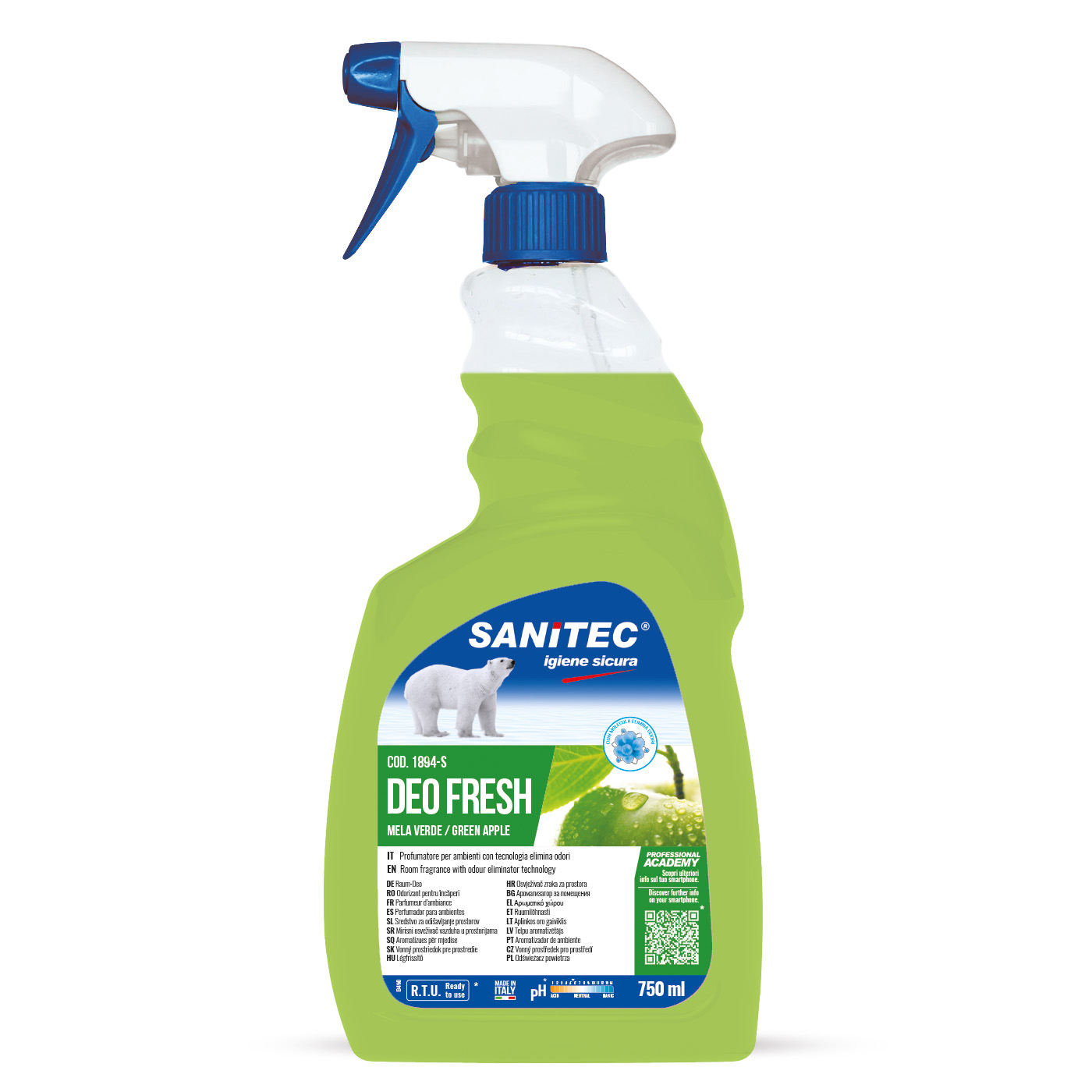 Sanitec Deo Fresh 750ml, puhastus ja lõhnaeemaldusaine