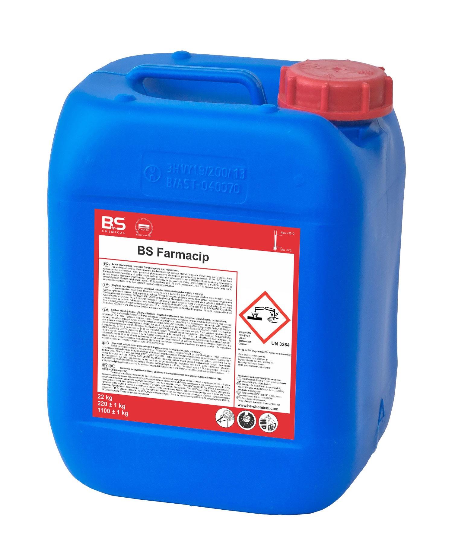 BS Farmacip happeline taarapesuaine 22 Kg