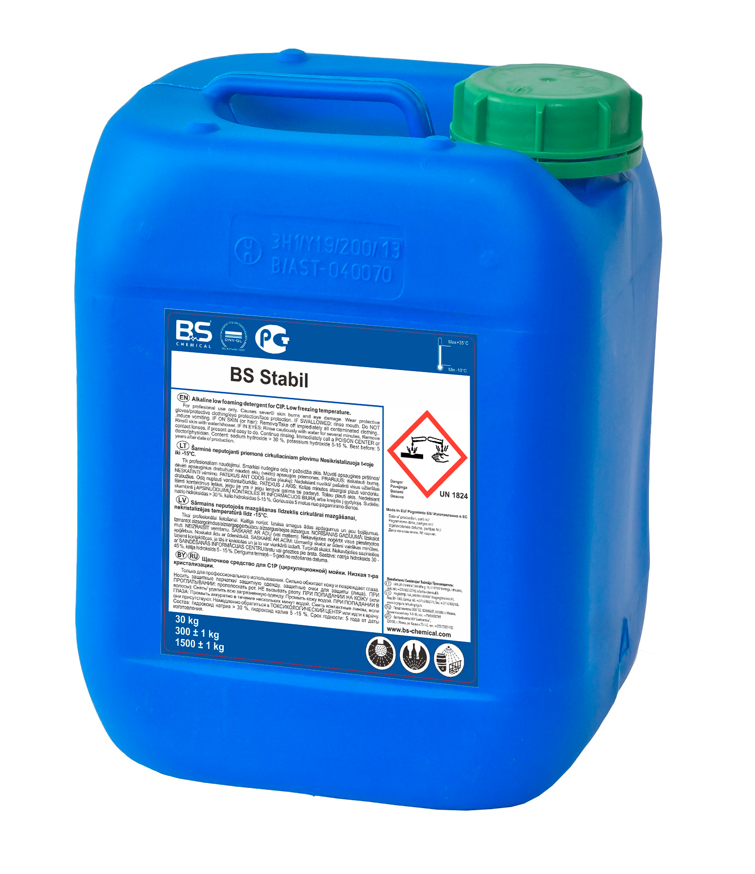BS Stabil aluseline CIP puhastusaine 30 kg