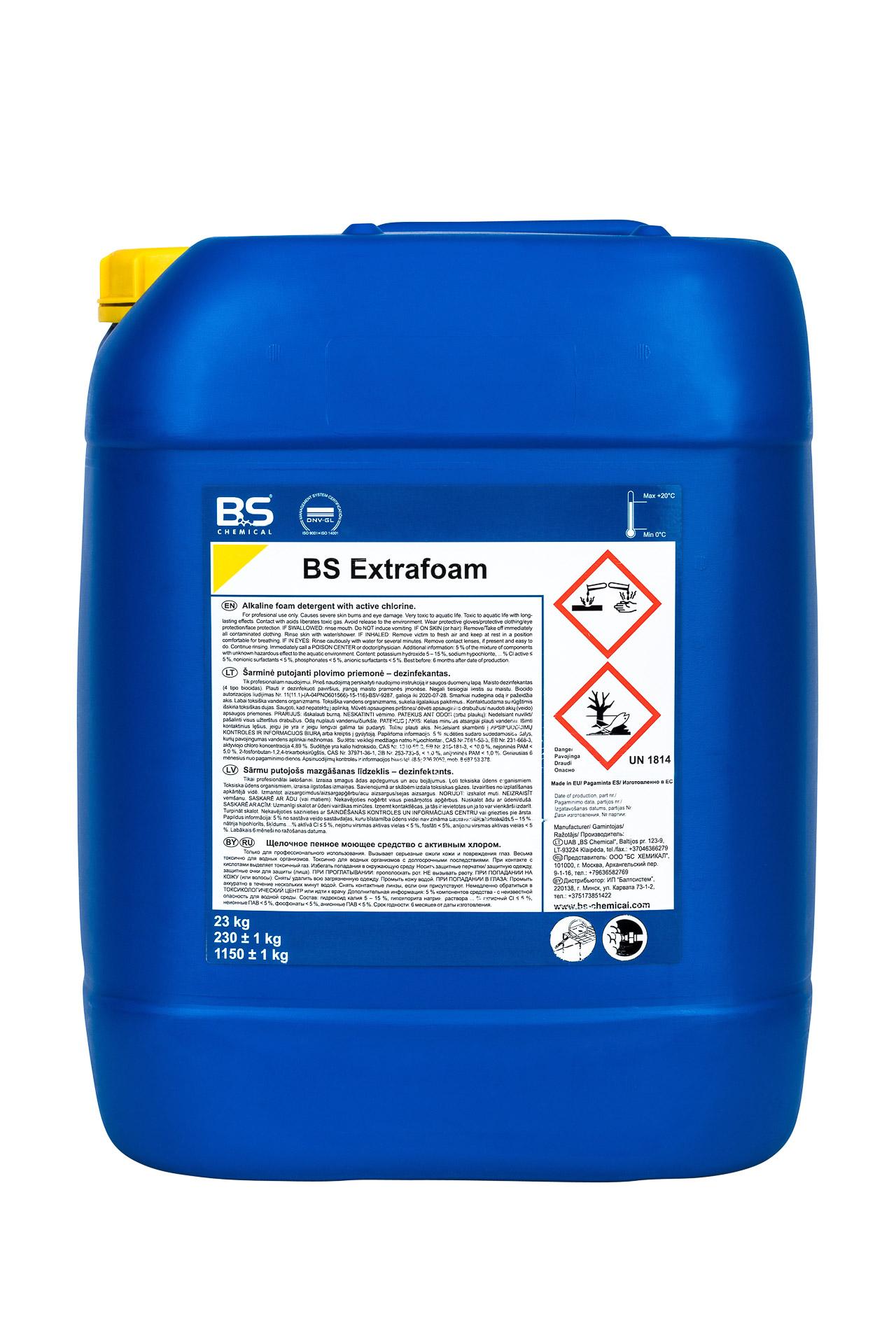 BS Extrafoam klooriga alus. vahup.aine 23 kg