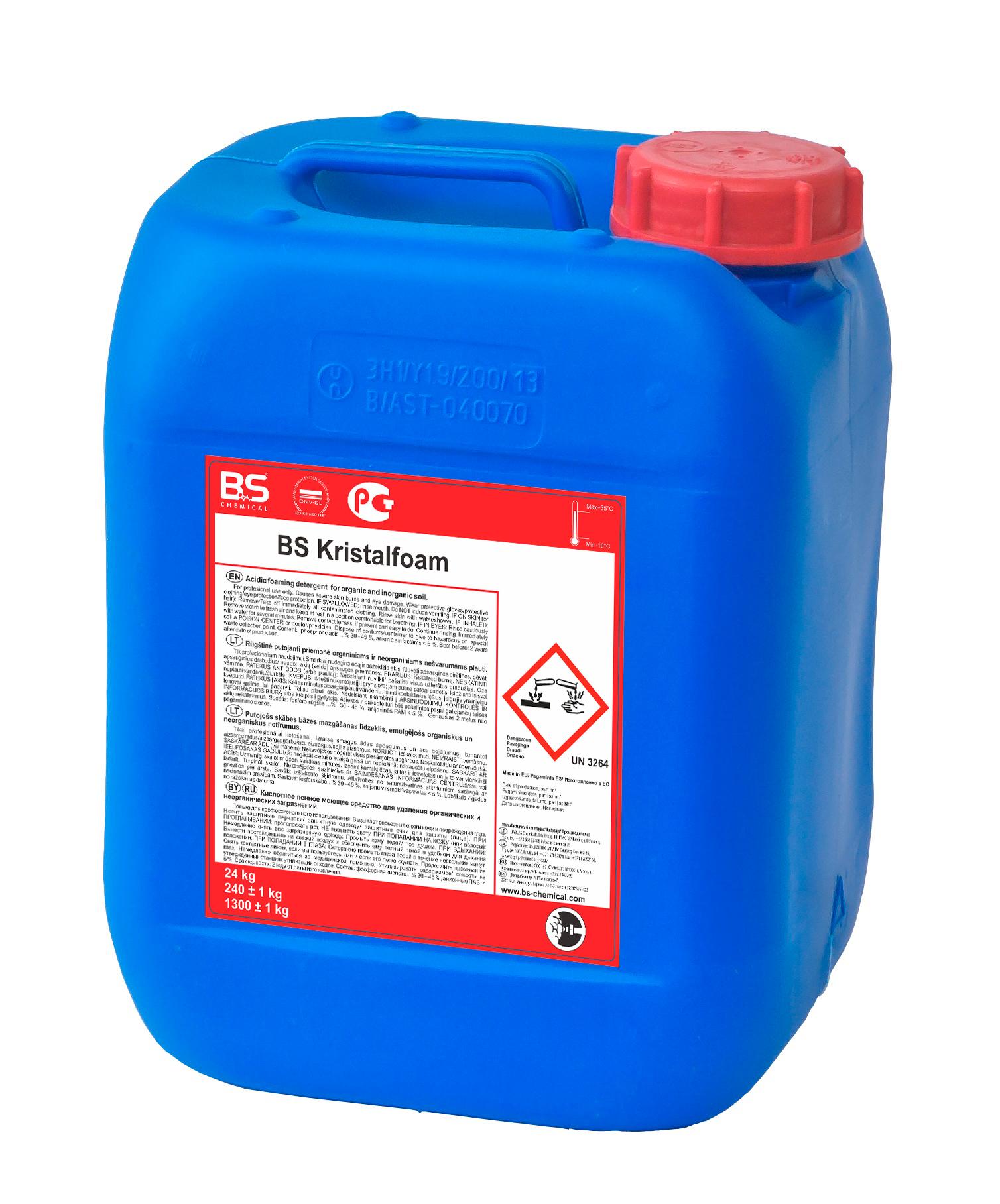 BS Kristalfoam happ. vahupesuaine 24 kg