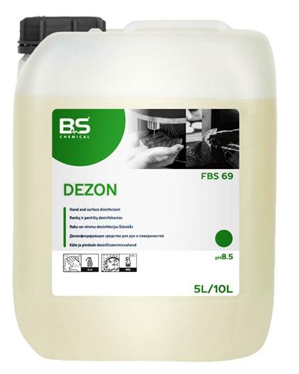 BS Dezon G desinfitseeriv geel, 5L, alkoholiga