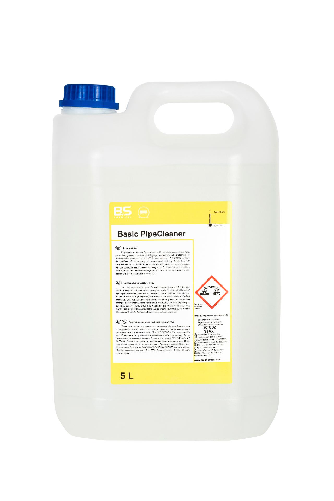 BS Pipe Cleaner 5L, äravoolutorude ja trappide puh.aine