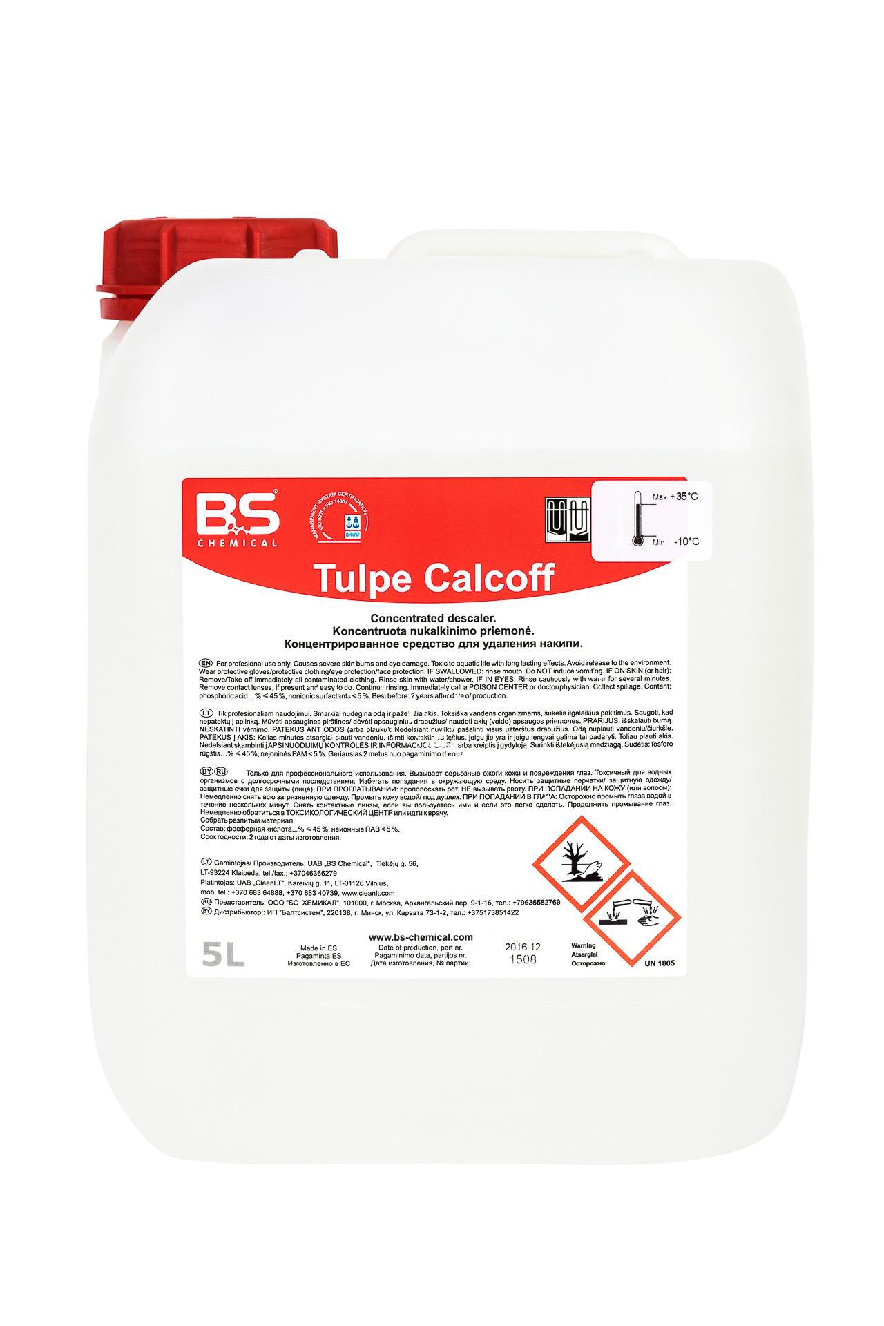 Tulpe Calcoff 5L, nõude ja pesumasinate katlakivieemaldi