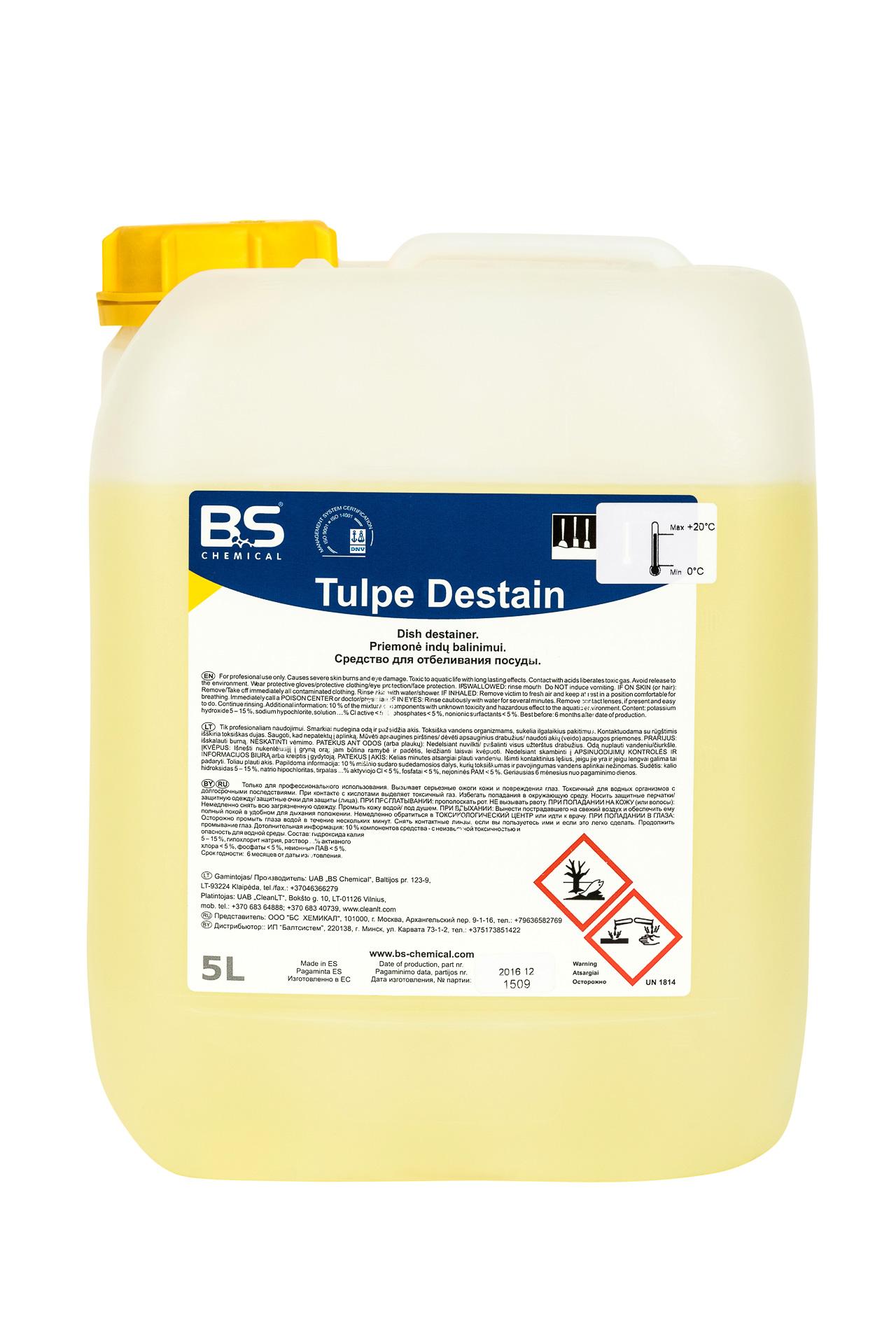 Tulpe Destain 5L, puhastus- ja leotusaine sööginõudele