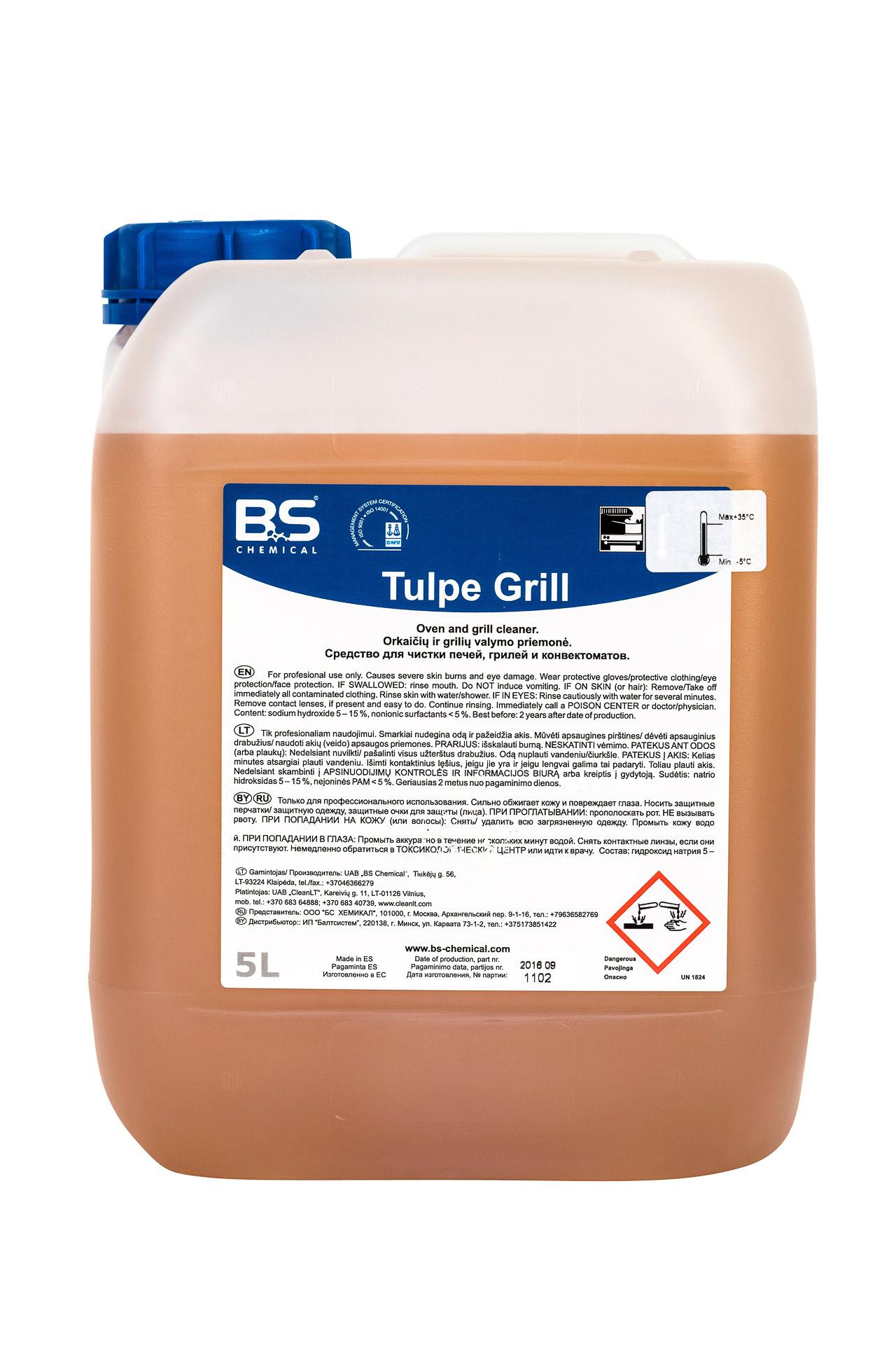 Tulpe Grill 5L, ahjude ja grillide puhastusaine