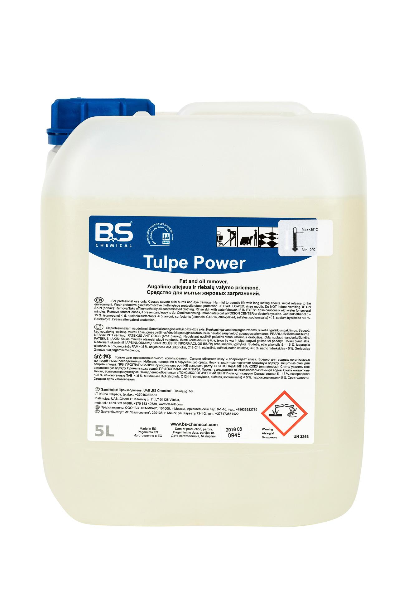 Tulpe Power 5L, puhastus- ja rasvaeemaldusaine, pakend 1 tk