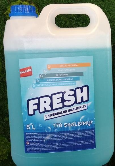 Pesugeel Fresh 5L, värv. ja valgele pesule