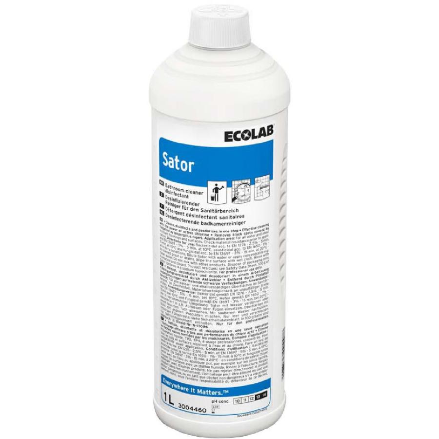 Ecolab Sator 1L, desinfitseeriv  puhastusaine klooriga, kastis 12 tk