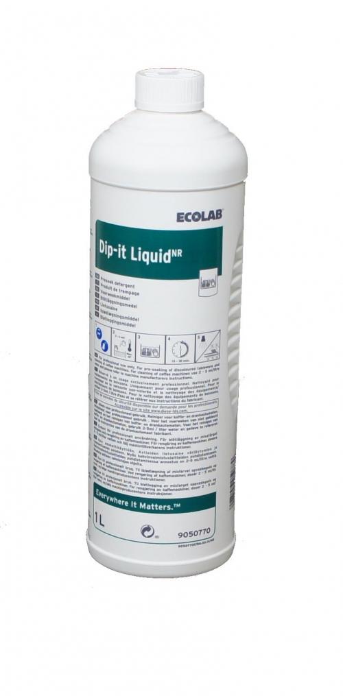 Ecolab Dip-it-Liquid 1L, klooriga nõudeleotusaine, kastis 6 tk