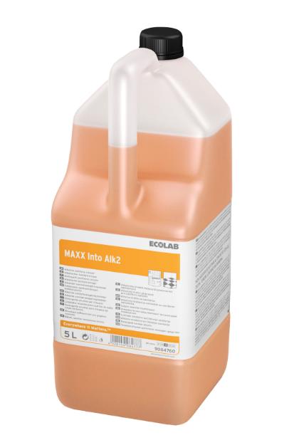 Ecolab MAXX Into Alk2 5L, aluseline sanitaarruumide puhastusaine, kastis 2 tk.