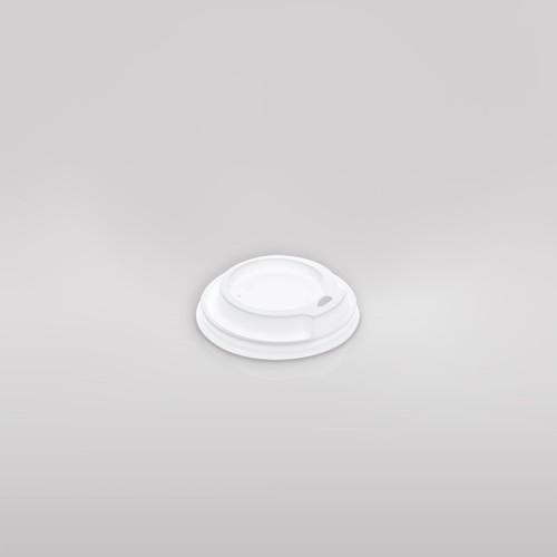 Kohvitopsi kaas, 90mm, 300ml topsile, valge, 100tk pakis, LÕPUMÜÜK