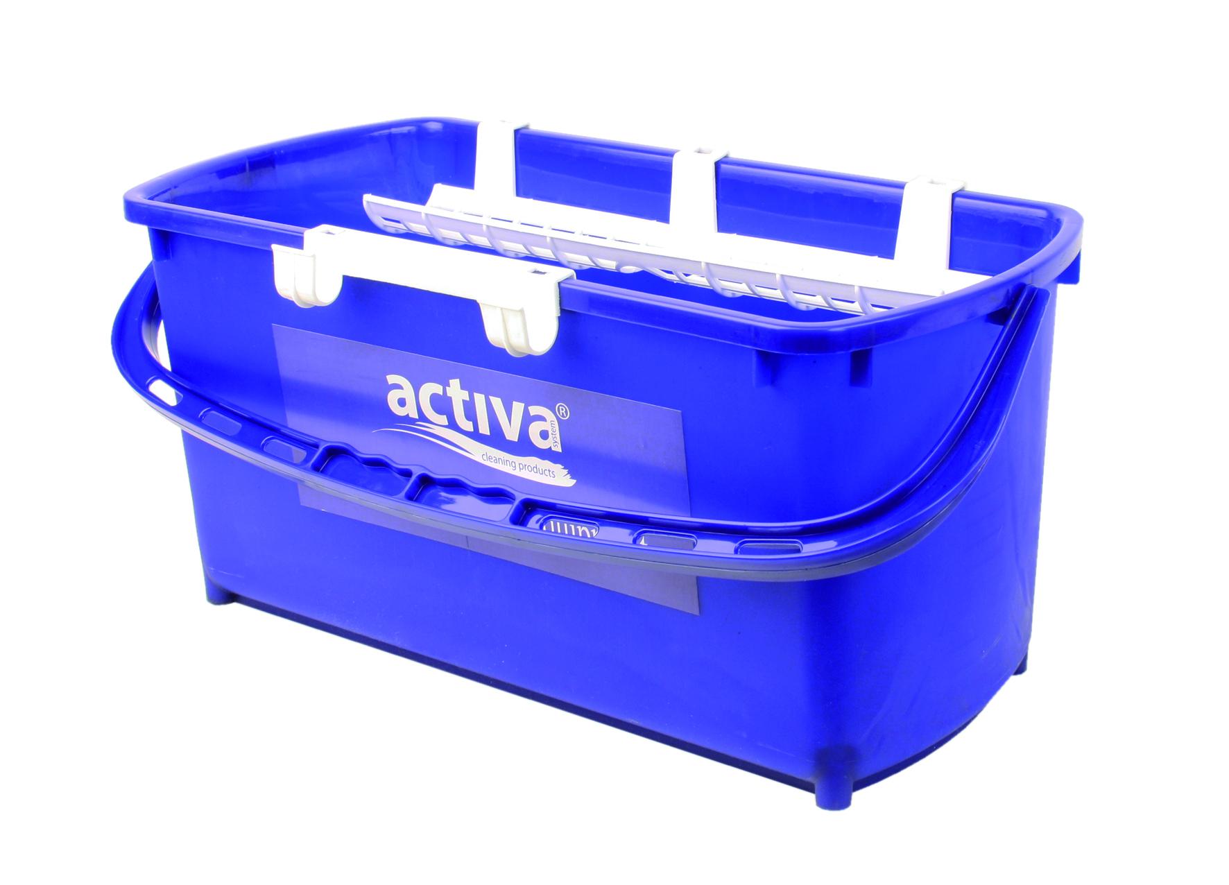 HT Aknapesuämber 18L+2x hoidik, sinine, kastis: 10tk.