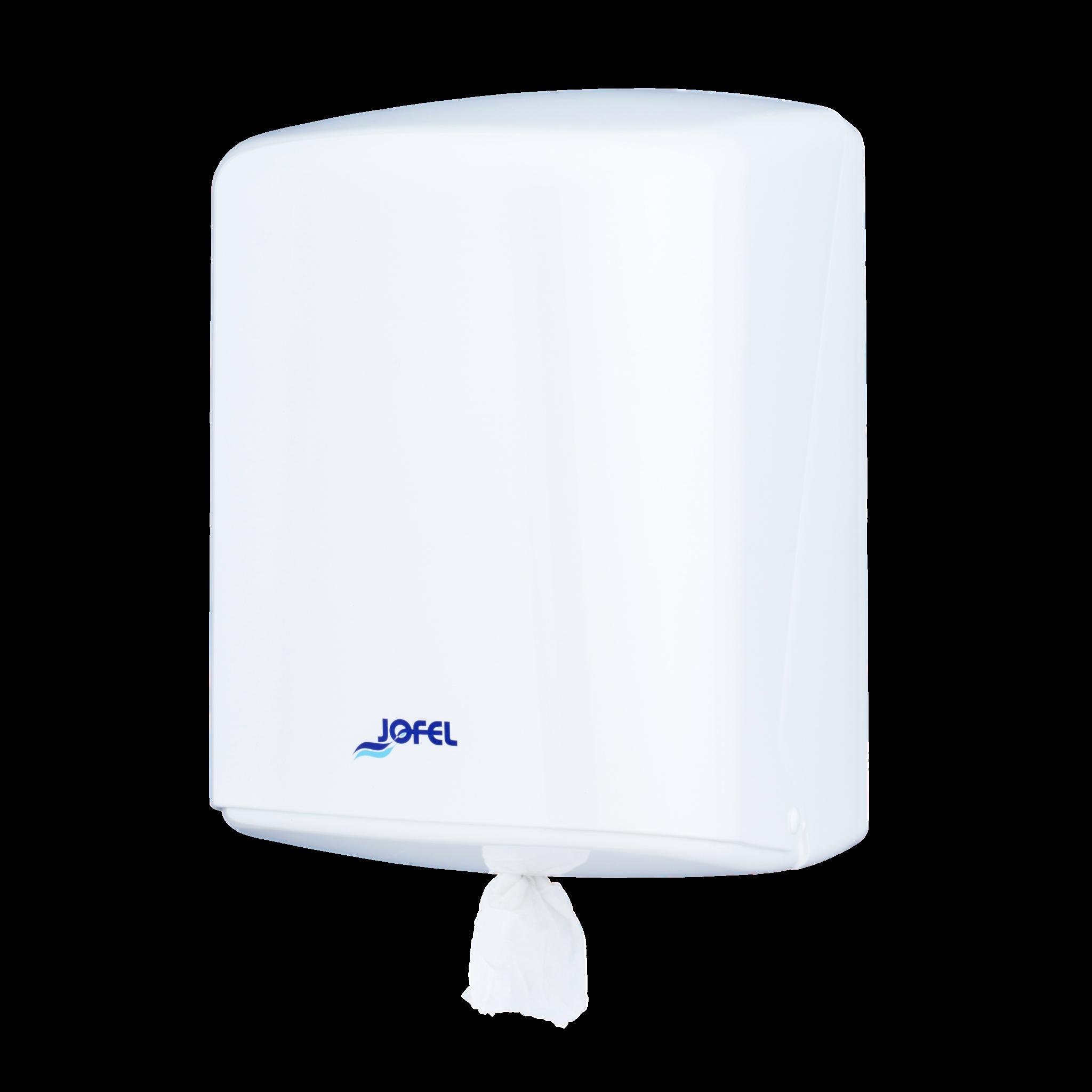 Jofel Azur kesktõmbega rullkätepaberi dosaator, valge, 34x23x24 cm