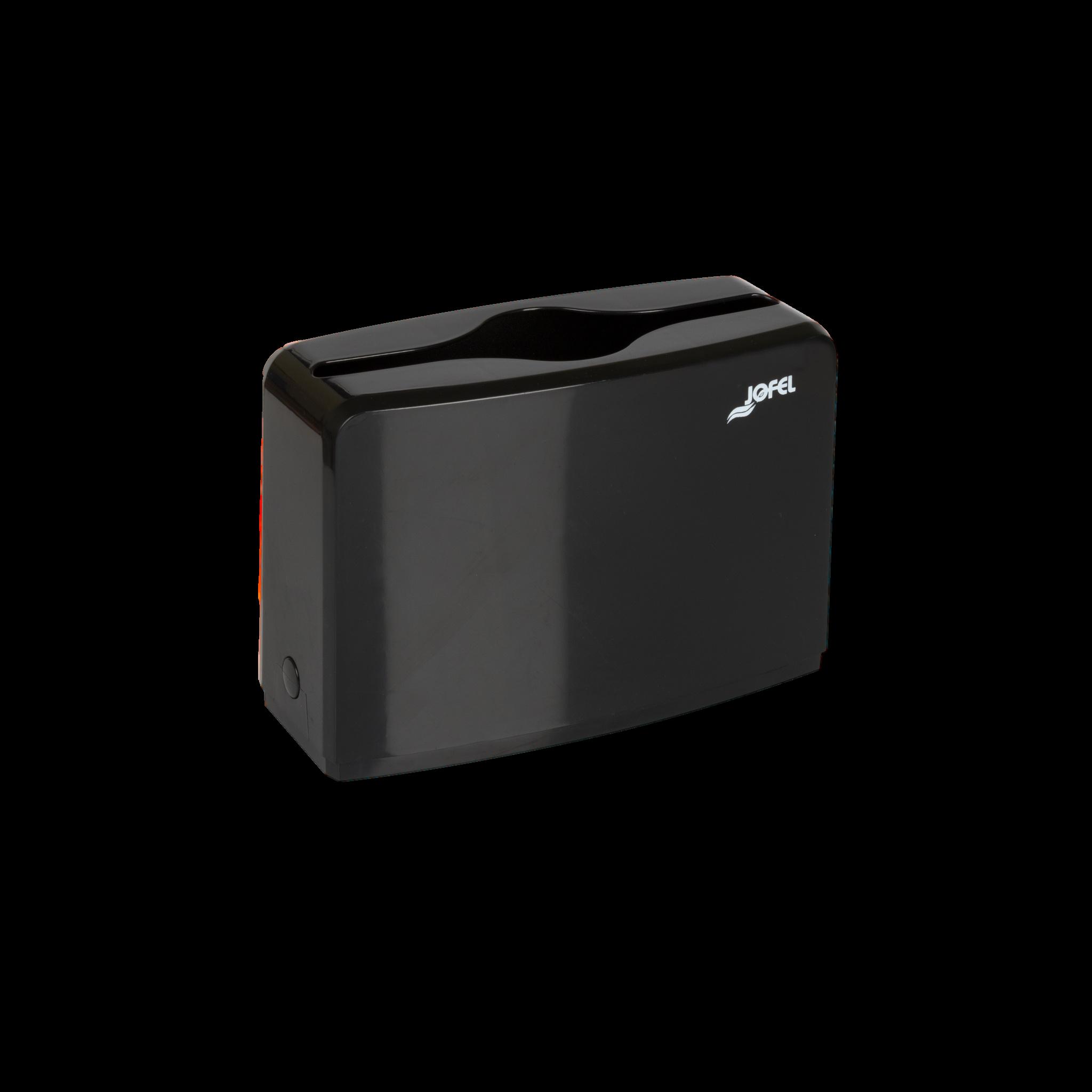 Jofel lehtkätepaberi dosaator, W ja Z, lauapealne, must, 185x273x118 mm