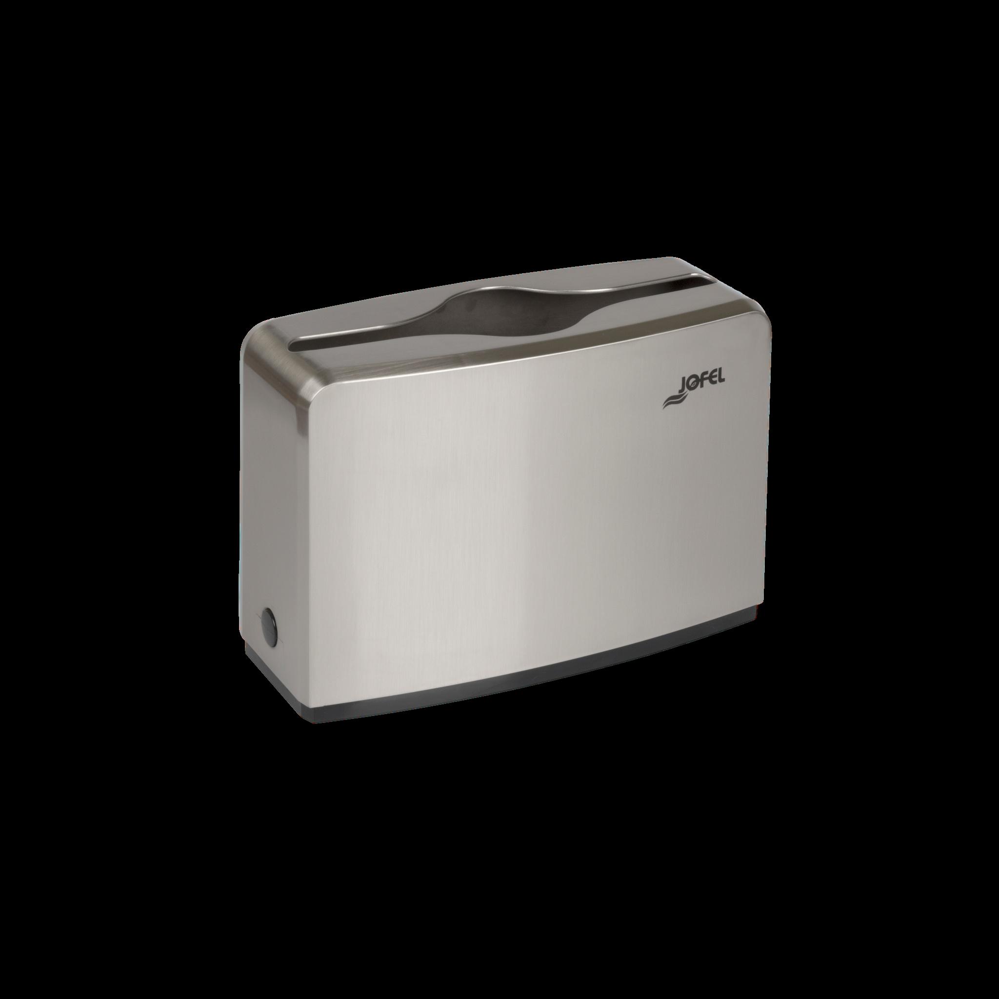 Jofel lehtkätepaberi dosaator, W ja Z, lauapealne, nikkel-plastik, 185x273x118 mm