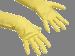 Kummikindad, kollane, S (7), pakis 10 paari, kastis 10 pk