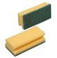 Svamm, abrasiivne, tööpind roheline, kollane, 13x7 cm, pakis 10 tk., kastis 20 pk