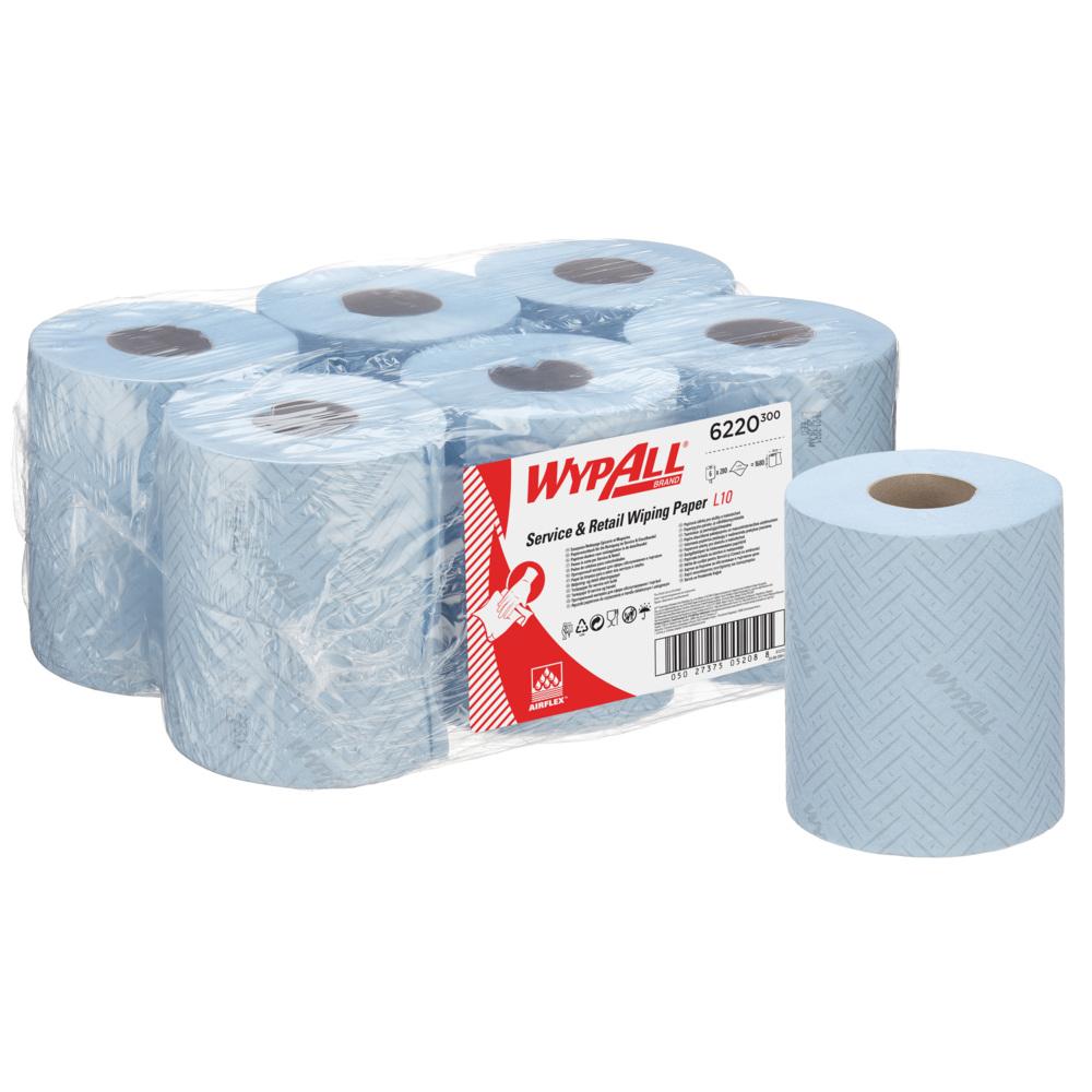 Kimberly-Clark® Rullkätepaber kesktõmbega WypAll Reach Airflex, kastis:6 x 106 m, sinine
