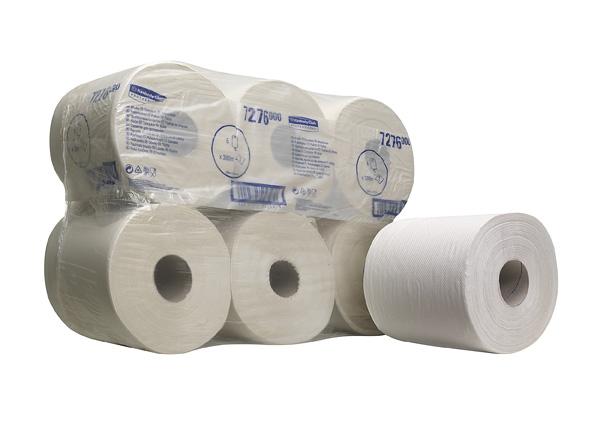 Kimberly-Clark® Rullkätepaber  kesktõmbega, kastis: 6tk x 300m, 1-kihiline, valge