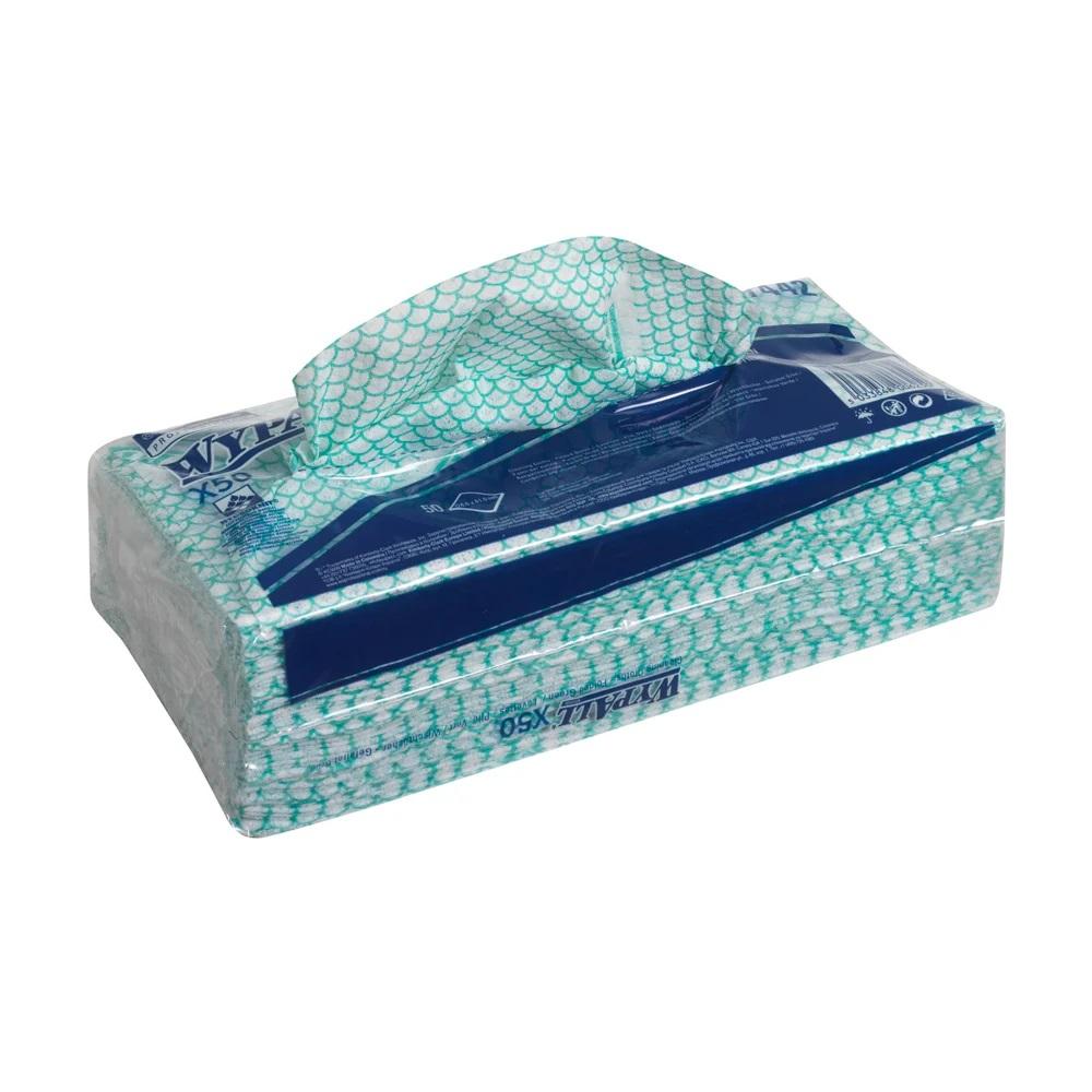 Kimberly-Clark® Wypall X 50 päevalapp, roheline, pakis 50 tk, kastis 6 pk.