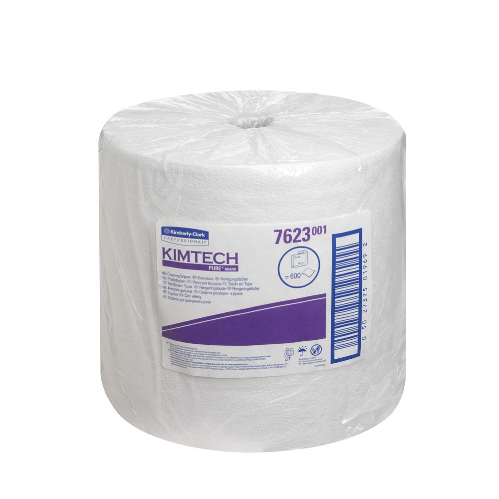 Kimberly-Clark® Kimtech Pure puhastuspaber rullis, 600 lehte, valge, LÕPUMÜÜK