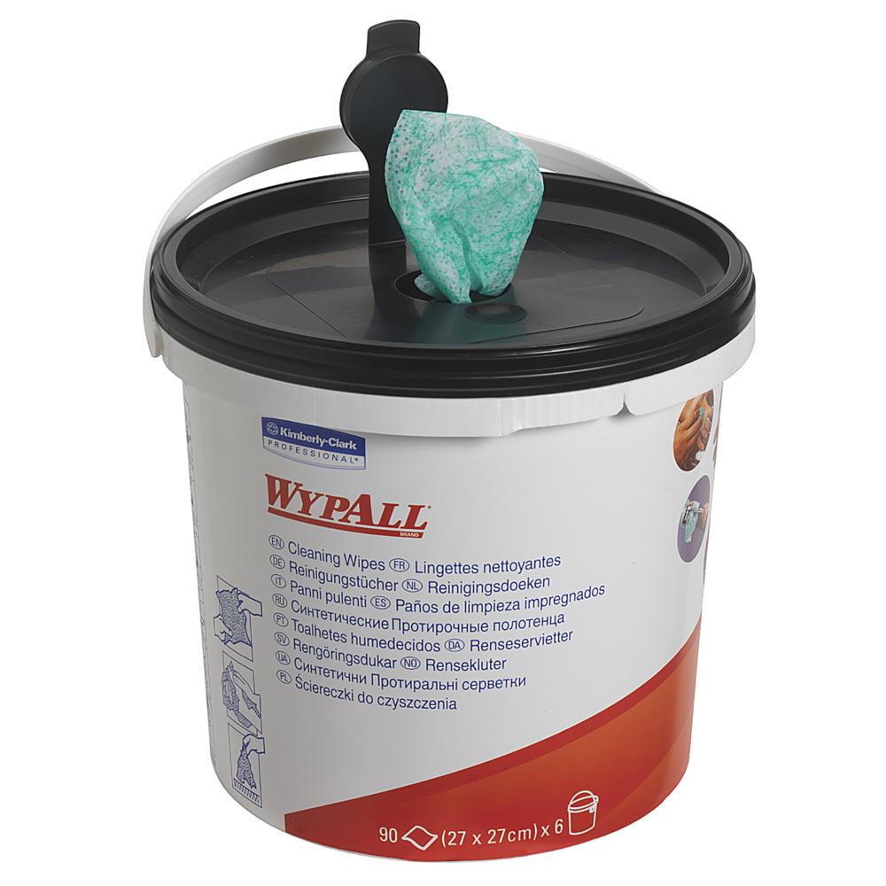 Kimberly-Clark® Wypall eelniisutatud puhastuslapp ämber + täide kastis 6 x 90tk (27 x 27cm), LÕPUMÜÜK