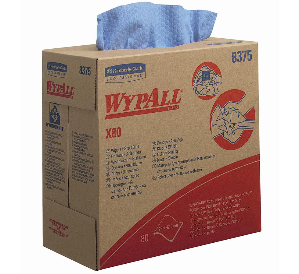 Kimberly-Clark® tööstuslik lapp Wypall X80 , karbis, kastis 80tk x 5pk, sinine, LÕPUMÜÜK