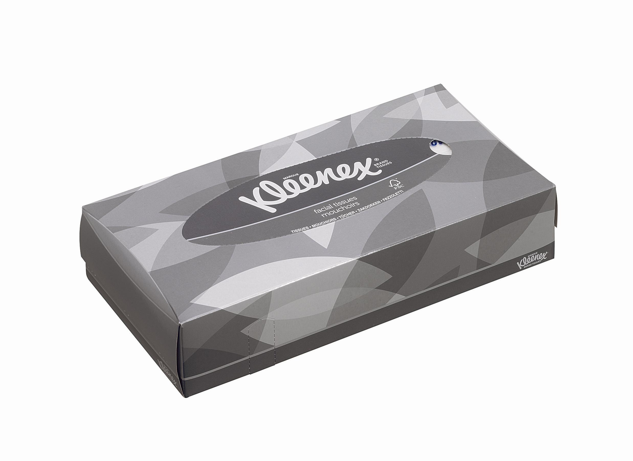 Kimberly-Clark® Hügieenisalvrätikud Kleenex, kastis 21pk.x100tk, 2*, valge