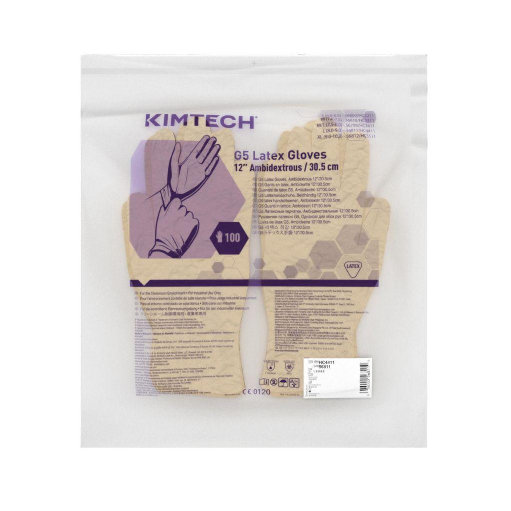 Kimberly-Clark® ühekordsed latekskindad Kimtech Pure G5, S 6,5, 20 pr pakis x 10pk, LÕPUMÜÜK