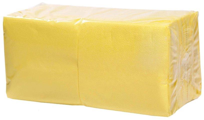 Salvrätikud 24 x 24 kollane, 1-kihiline, pakis 400 tk, kastis 18 pk