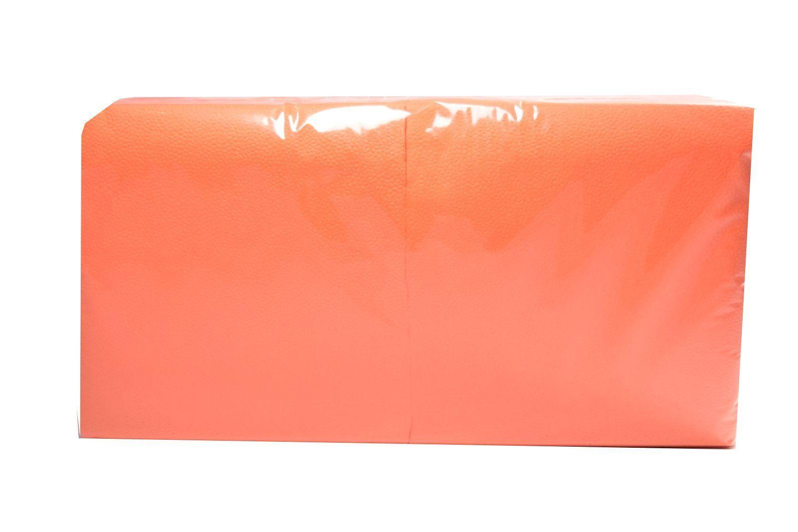 Salvrätikud 24 x 24 oranž, 1-kihiline, pakis 400 tk, kastis 18 pk