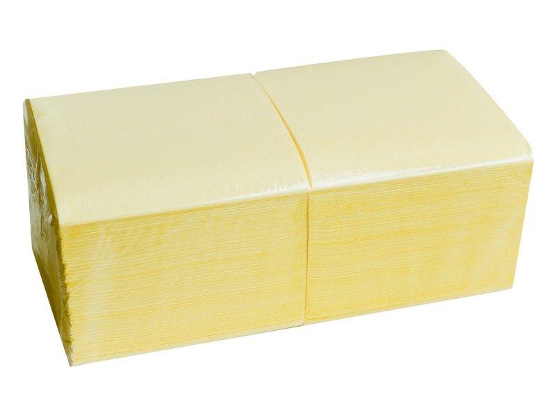 Salvrätikud 33 x 33 kollane, 2-kihiline, pakis 250 tk, kastis 9 pk
