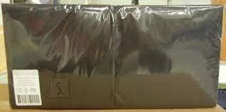 Salvrätikud 33 x 33 must, 2-kihiline, pakis 250 tk, kastis 8 pk