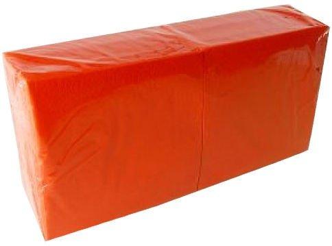 Salvrätikud 33 x 33 oranž, 1-kihiline, pakis 400 tk, kastis 6 pk