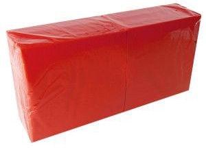 Salvrätikud 33 x 33 punane, 1-kihiline, pakis 400 tk, kastis 6 pk