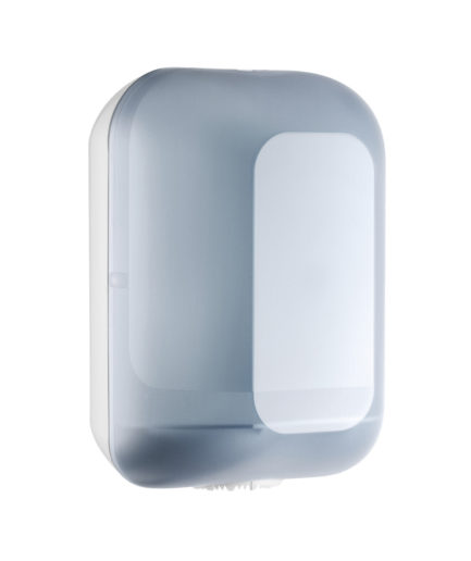 Marplast kesktõmbega rullkätepaber dosaator, valge-läbipaistev