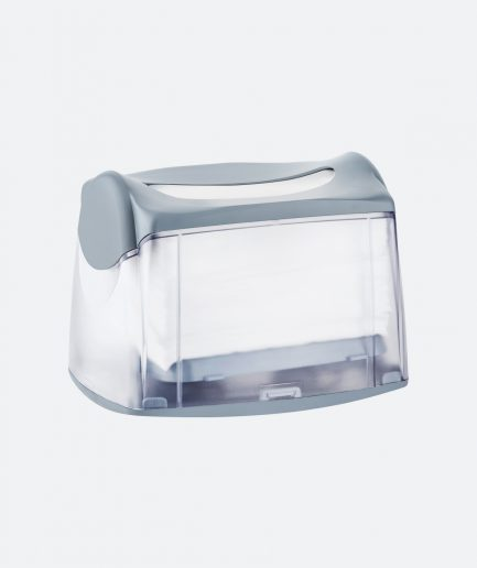 Marplast salvrätiku hoidik, lauale, väike, hall, läbipaistev, kastis 4tk, LÕPUMÜÜK