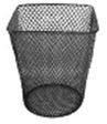 Prügikorv Classic M 15L, metallvõrk, must, kandiline