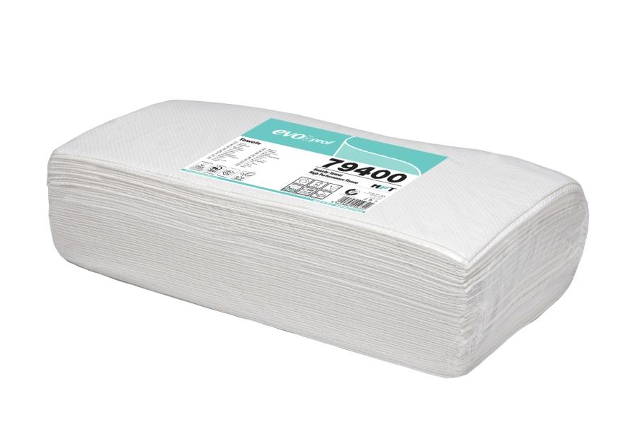 Evoproff paberkäterätik, 40x80 cm, valge, pakis 50 tk, 3kihiline, tselluloos