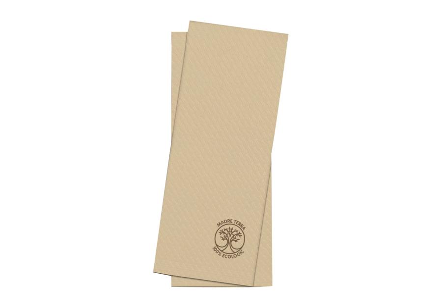 Söögiriistade tasku Madre Terra, 25x11 cm, naturaalne, 100 tk.x 8 pk kastis