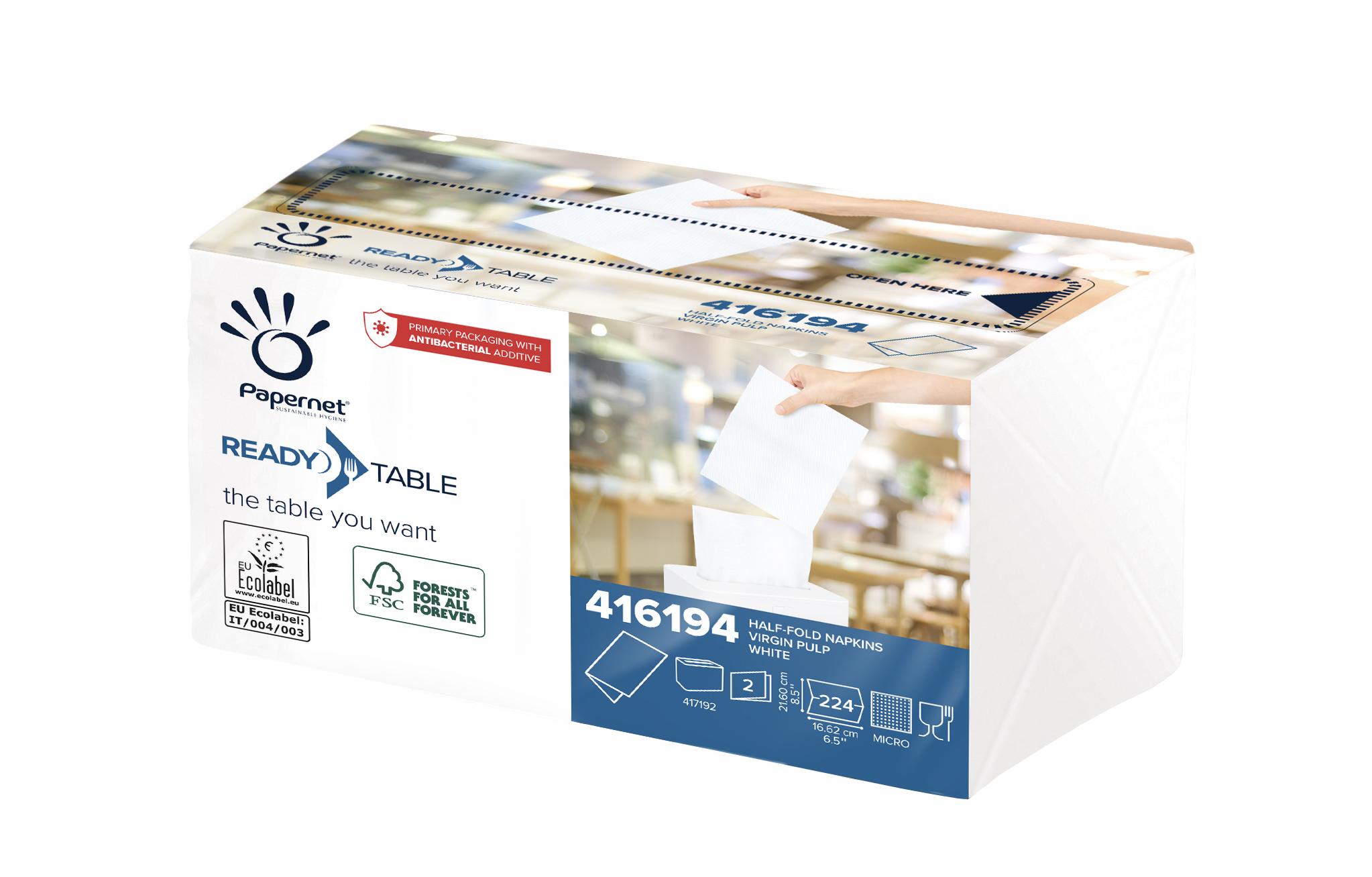 Papernet® Salvrätikud, valge, non-stop 224tk.x40pk, 2*,16,6x21,60 cm