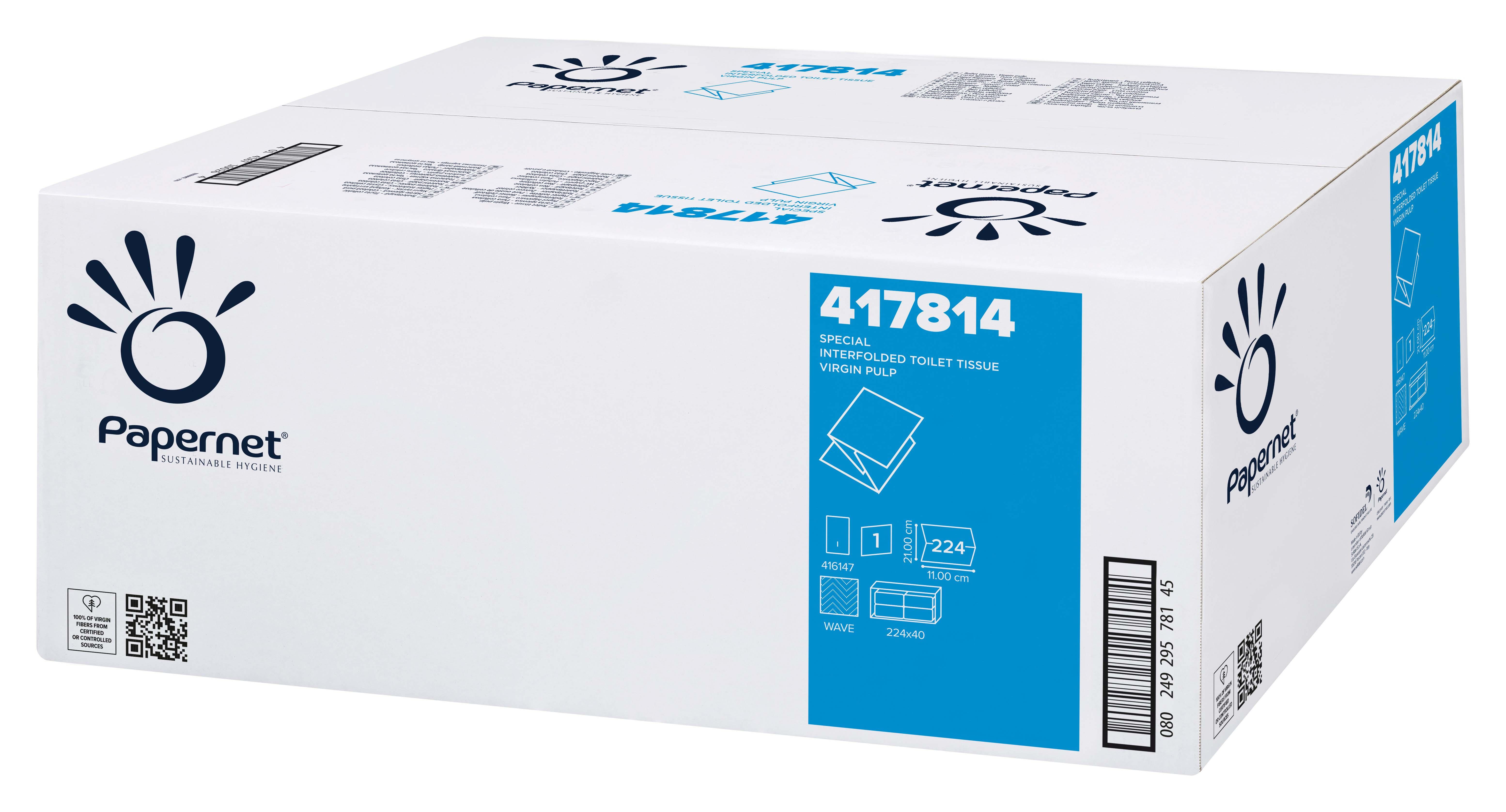 Papernet® WC paber leht., 40pk x 224 lehte, 2-kihiline, valge