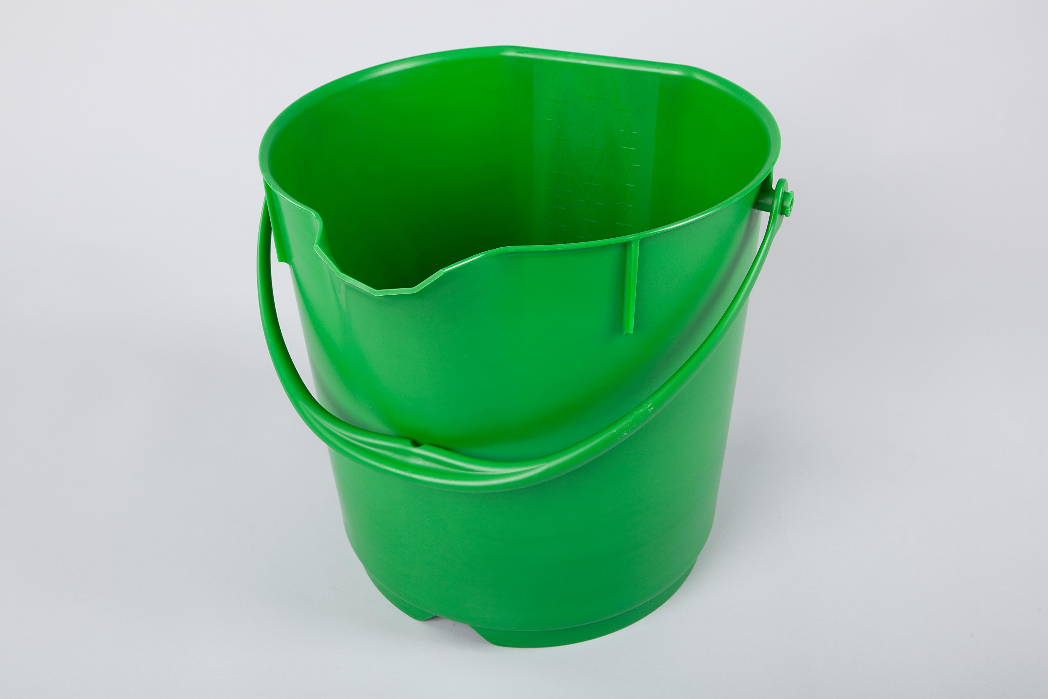 Unimop ämber 15 L, roheline, kastis 4 tk