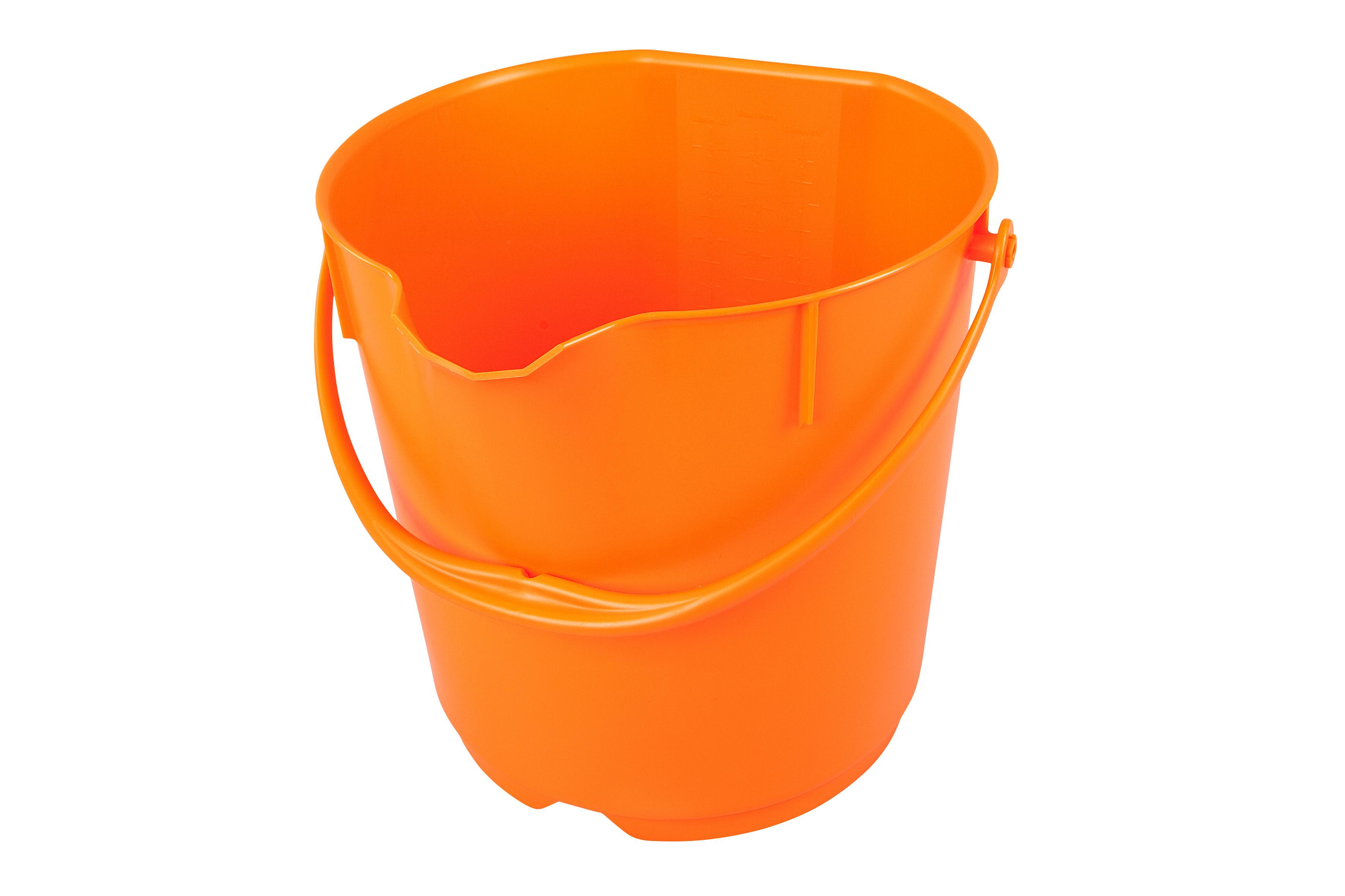 Unimop ämber 15 L, oranž, kastis 4 tk