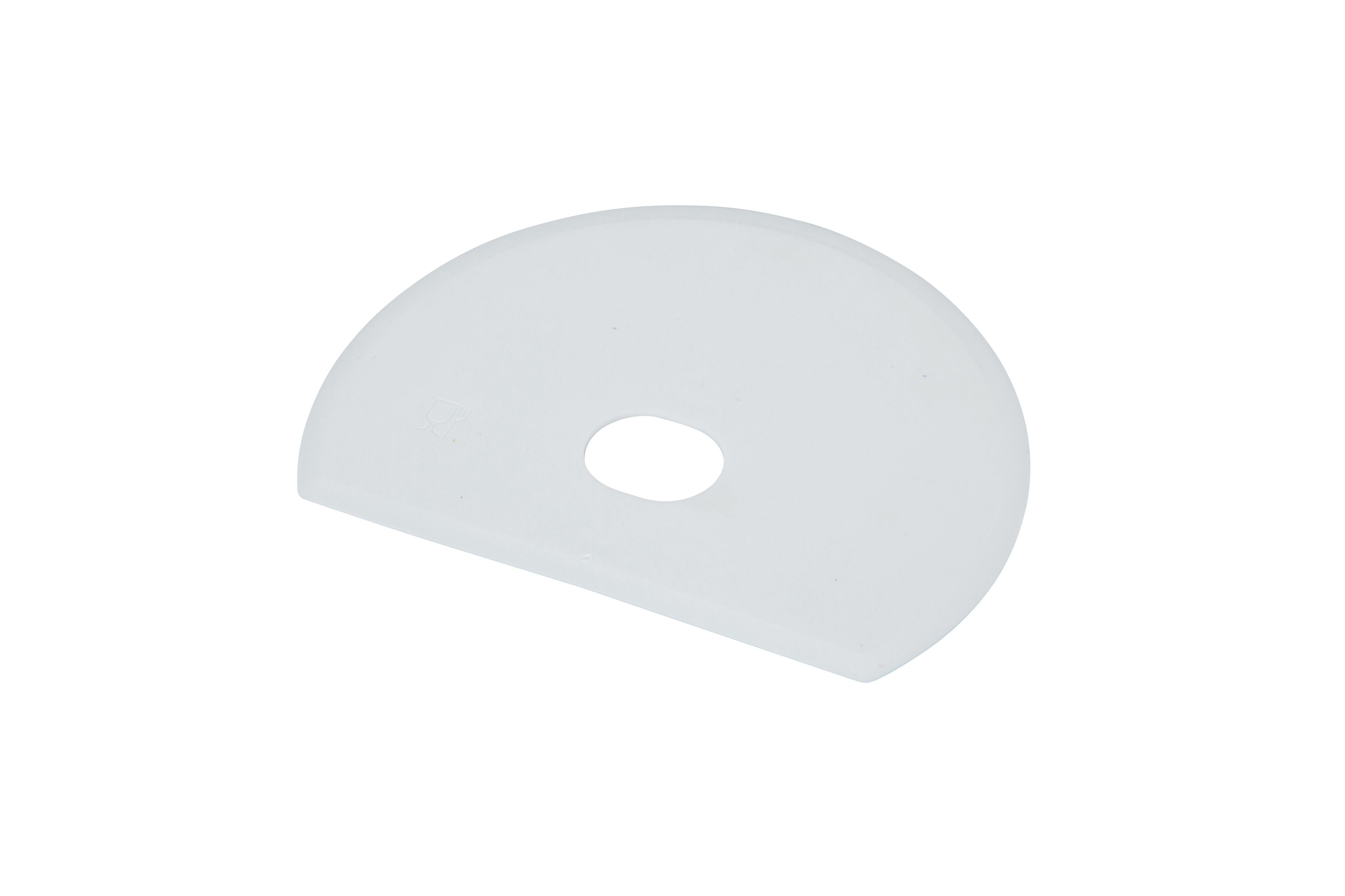 Unimop spaatel 160 x 125 x 1,65 mm, valge, kastis 20 tk