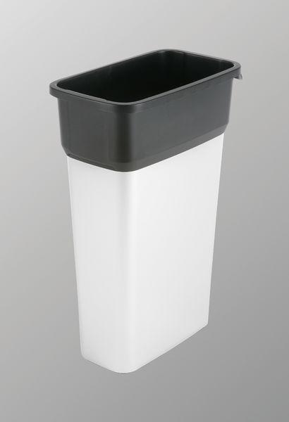 Vileda Prügikast Geo 70L, plastik, must/hõbe